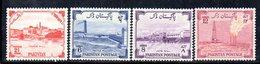 APR1734 - PAKISTAN 1955 ,  Yvert N. 73/76  ***  MNH  (2380A)  INDIPENDENZA - Pakistan