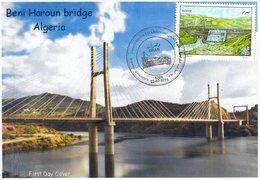 DZ Algeria 1739 Architecture Bridge & Dam Beni Haroun - World Water Day - Bridges