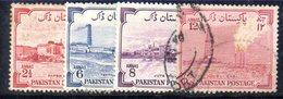 APR1735 - PAKISTAN 1955 ,  Yvert N. 73/76  Usata  (2380A)  INDIPENDENZA - Pakistan