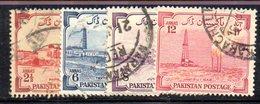 APR1736 - PAKISTAN 1955 ,  Yvert N. 73/76  Usata  (2380A)  INDIPENDENZA - Pakistan