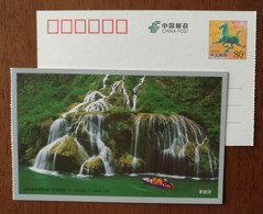 Mountain Waterfall,China 2011 Maoyan River Rafting Landscape Small Size Pre-stamped Card - Holidays & Tourism
