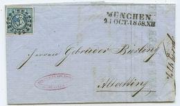 1858 Altdeutschland Bayern Brief München Nach Altötting - Bavière