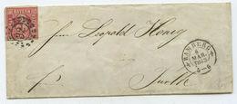 1863 Altdeutschland Bayern Brief Bamberg Nach Fürth - Bavière