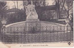 CPA -  TOULOUSE - 98. Statue De La Grande Allée - Toulouse