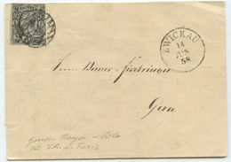 1858 Altdeutschland Sachsen Brief Zwickau Nach Gera - Saxe