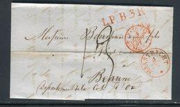 Pays Bas - Lettre ( Avec Texte ) De Maastrich Pour La France En 1851 - Prix Fixe - Réf JJ 159 - Period 1852-1890 (Willem III)