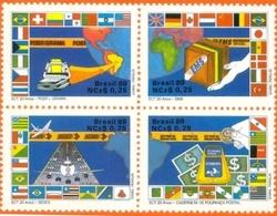 BRAZIL #2163  -   POSTAL SERVICES -  4v  (+)  1989 - Brazil