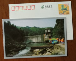 Small Hydropower Station Dam,rafting,China 2011 Hunan Lixi Stream Rafting Landscape Small Size Pre-stamped Card - Holidays & Tourism