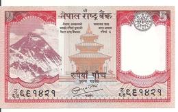 NEPAL 5 RUPEES ND2010 UNC P 60  SIGN 19 - Népal