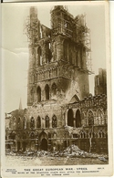 """CP De YPRES ( Ieper ) """" The Ruins Of The Beautiful Cloth Hall After The ..."""" - Ieper"""