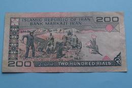 Two Hundred RIALS > 200 ( 379227 ) Islamic Republic Of Iran - Bank Markazi Iran ( See/voir/zie Photo ) ! - Iran