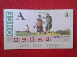 CUPÓN DE ONCE SPANISH LOTTERY CIEGOS SPAIN LOTERÍA ESPAÑA BLIND 1987 ANDALUCES ANDALUSIAN PEOPLE ANDALUCÍA ANDALUSIA VER - Billetes De Lotería