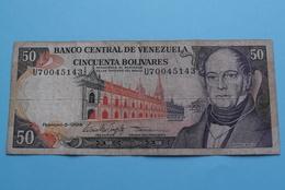Cincuenta Bolivares > 50 ( U70045143 ) Febrero-5-1998 / Andrés Bello ( See/voir/zie Photo ) Venezuela ! - Iran