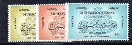 APR1747 - PAKISTAN 1958 , Serie Yvert N. 97/99  ***  MNH  (2380A) Iqbal - Pakistan