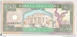 SOMALILAND 5 SHILLINGS 1994 UNC P 1 - Somalië