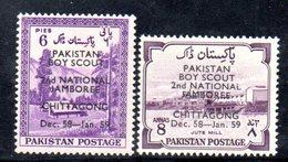 APR1748 - PAKISTAN 1958 , Serie Yvert N. 102/103  ***  MNH  (2380A)  Boy Scout - Pakistan