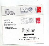 Lettre Flamme Luxeuil Les Bains 100 Ans Rotary 2 Types - Storia Postale
