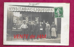 50/ MANCHE...Carte Postale Photo De SOURDEVAL. Magasin Vins, Tabacs, Liqueurs M. HUET Alexandre, Rue De Mortain..2 Scans - France