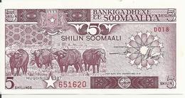 SOMALIE 5 SHILLINGS 1987 AUNC P 31 C - Somalië