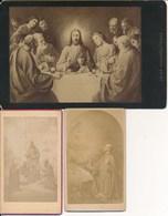 3 Photos - CDV - Cabinet - Scène Religion (Ca 1890-1900) - Photos