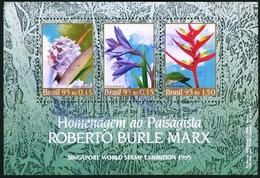 BRAZIL #2547 -  HOMMAGE TO BURLE MAX - SINGAPORE 95. INTERNATIONAL PHILATELIC EXHIBITION -1995  USED - Brazil