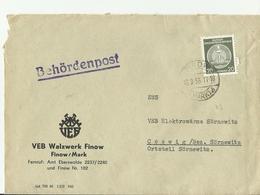 DDR CV 1956 - Storia Postale