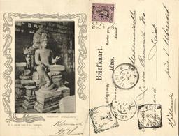 Indonesia, JAVA YOGYAKARTA DJOKJA, Candi Mendut, Buddha Statue (1904) Postcard - Indonesië