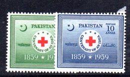 APR1750 - PAKISTAN 1959 , Serie Yvert N. 105/106  ***  MNH  (2380A) Croce Rossa - Pakistan