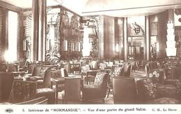 """Intérieur De """"Normandie"""" - Vue D'une Partie Du Grand Salon - Paquebots"""