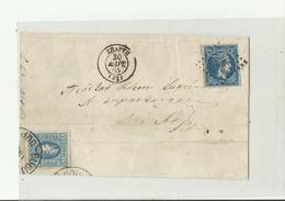 GRIECHENLAND 1863 NA ROMANIA - Briefe U. Dokumente