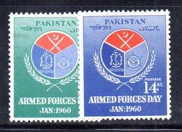 APR1752 - PAKISTAN 1960 , Serie Yvert N. 107/108    ***  MNH  (2380A) Esercito - Pakistan