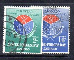 APR1753 - PAKISTAN 1960 , Serie Yvert N. 107/108 Usata  (2380A) Esercito - Pakistan