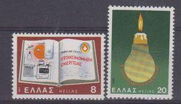 Greece 1980 Conservation Of Energy 2v ** Mnh (43483A) - Griekenland