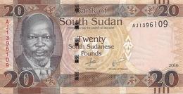 SOUDAN SOUTH 20 POUNDS 2016 UNC P 13 B - Sudan