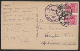 1921 DR - Schiffspost - Salonschnelldampfer HERTHA -  Swinemünde / Świnoujście - Auf Hoher See - Briefe U. Dokumente