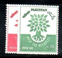 XP249 - Pakistan 1960 , Serie 113/114    ***  MNH  RIFUGIATO - Pakistan