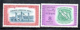 APR1757 - PAKISTAN 1960 , Serie Yvert N. 115/116   ***  MNH  (2380A) Lyallpur - Pakistan