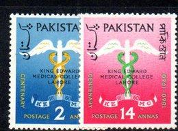 APR1758 - PAKISTAN 1960 , Serie Yvert N. 119/120   ***  MNH  (2380A)   Lahore - Pakistan