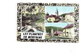 Cpm - 39 - LES PLANCHES EN MONTAGNE - Place Restaurant église - 1961 - France