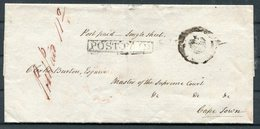 South Africa, Cape Town, Supreme Court, Pre-stamp Crown POST PAID Wrapper - Cape Of Good Hope (1853-1904)