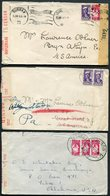 WW2 South Africa X3 (different) Censor Label Covers - USA - South Africa (...-1961)