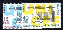 APR1763 - PAKISTAN 1962 , Serie Yvert N. 171/172   ***  MNH  (2380A) Unicef - Pakistan