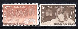 APR1764 - PAKISTAN 1963 , Serie Yvert N. 174/175   ***  MNH  (2380A) Fame Hunger - Pakistan