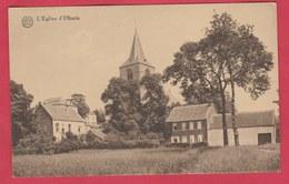 Ohain / Lasne - L'Eglise Et ... Maisons Environnantes ... Couleur Sépia ( Voir Verso ) - Lasne