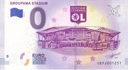 Billet Touristique 0 Euros Groupama Stadium Ol Olympique Lyonnais Stade UEFJ001251 - Specimen