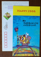 Cartoon Dao Dao Dog,railroad,Railway Signal Lamp,CN06 Ageme Company Lunar New Year Of Dog Year Greeting Pre-stamped Card - Trains