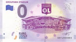 Billet Touristique 0 Euros Groupama Stadium Ol Olympique Lyonnais Stade UEFJ000883 - Specimen