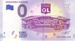 Billet Touristique 0 Euros Groupama Stadium Ol Olympique Lyonnais Stade UEFJ004230 - Specimen