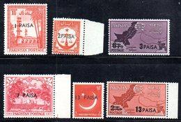 APR1772 - PAKISTAN 1961 , Serie Yvert N. 124/129   ***  MNH  (2380A) - Pakistan