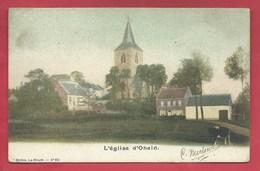 Ohain / Lasne - Superbe Carte Couleur De L'Eglise Et ... Maisons Environnantes - 190? ( Voir Verso ) - Lasne